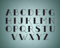 """""""Aboard typeface"""" by Silje Nyløkken"""