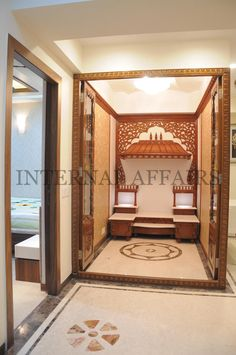 Pooja alter on Pinterest | Puja Room, Indian Homes and Room Ideas