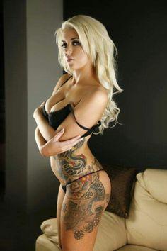 Hot Girl with tattoos. Nice #Hot #Girls #Tattoos