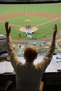 Last night was touching for any Dodger fan, but it was equally special for the man behind the mic