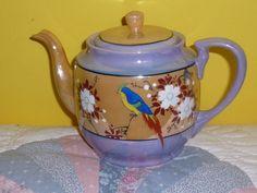 Handpainted Vintage Teapot by TrueColorsBoutique on Etsy, $40.00