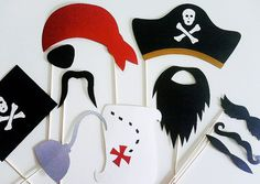 pirate!!! photo booth props