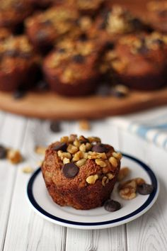 Banana Walnut Chocolate Chip Muffins (Gluten Free, Dairy Free, Vegan)