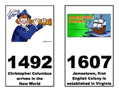 American History Timeline posters for classroom display - Freebie