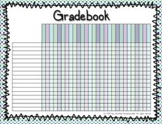 free teacher gradebook template printable
