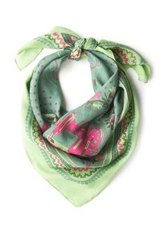 Sew This is Love Scarf, #ModCloth   The perfect color to make green eyes pop! #madejustforme #perfectscarf