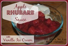 Apple Rhubarb Sauce with Vanilla Ice Cream // Once Upon a Time in a Bed of Wildflowers