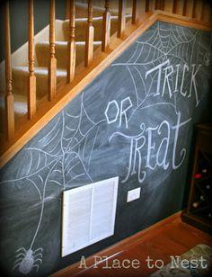 Halloween Chalkboard Wall