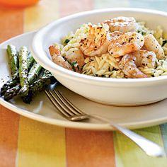 Superfast Italian Recipes | Lemon Pepper Shrimp Scampi | CookingLight.com
