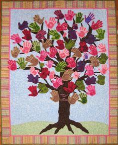 hand-print quilt