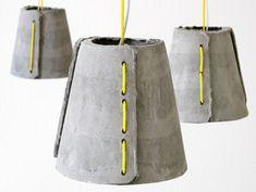 CemLight #concrete indoor-outdoor pendant lamps by Rainer Mutsch