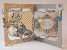 accordion flip, butterfli punch, birthday card, accordion album, drawer blog
