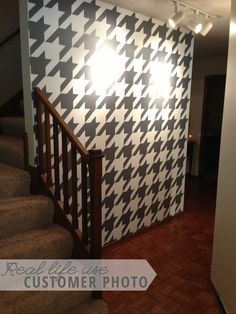 Houndstooth Wallpaper Pattern  Wall Decal Custom by danadecals, $65.00
