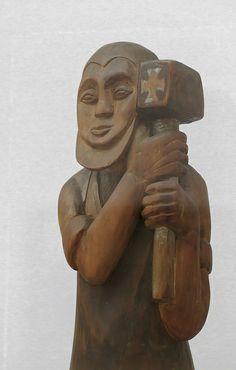 Ernst Ludwig Kirchner, Der Schmied von Hagen. 1915. This sculpture was banned by the Nazi regime and exhibited at the Degenerate art exhibition in Munich in 1937.