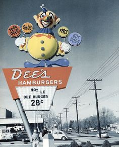 Dee's Hamburger signs - These signs were all over Salt Lake City and suburbs in the 1960s and 1970s