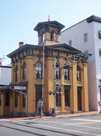 Train Station in Gettysburg, PA--Lincoln's train stopped here when he arrived in Gettysburg-- restored and now used as an Information center.