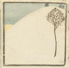 artists, cuno amiet, winter trees, colors, lanterns, print, illustr, design, blues
