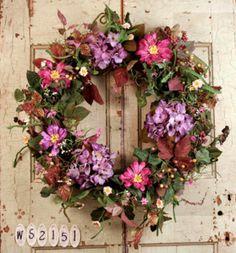 Romantic Garden Summer Door Wreath