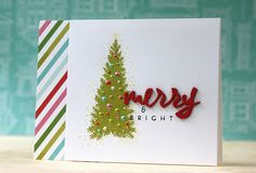 Merry & Bright Card by Laura Bassen for Papertrey Ink (September 2014)