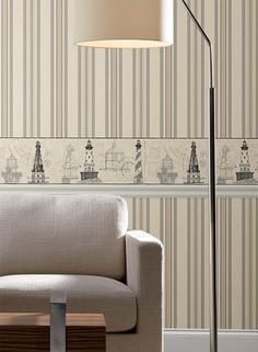 Nautical Lighthouse border from American Classics Collection by York Wallcoverings.
