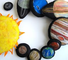 felted solar system