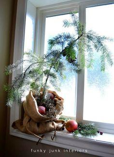 Make a burlap sacked Charlie Brown Christmas tree