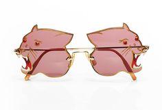 Vintage 1970s amazing fierce panther sunglasses