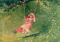 Girl on a Swing by Winslow Homer
