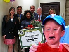 win? #crybaby deserves that Publishers Clearing House sweepstakes million dollar check