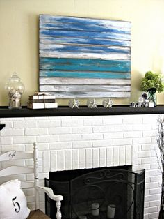 I have an old fence I'd like to do this too! Seaside Inspired Mantle