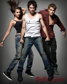 Nina Dobrev - Ian Somerhalder - Paul Wesley - The Vampire Diaries