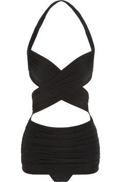 Norma Kamali vintage bathing suit