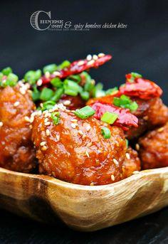 Chinese Sweet and Spicy Boneless Chicken Bites