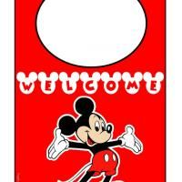 Give a like for this free printable Mickey Mouse Door Hanger. You kids are sure to love this!!!! #Disney