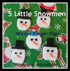 Finger Play Fun Day:  5 Little Snowmen