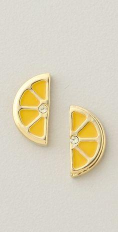 lemon earrings - marc by marc - $48