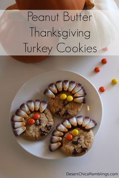 Thanksgiving Turkey Cookies - updated with a fun new flavor: Peanut Butter and S'mores!
