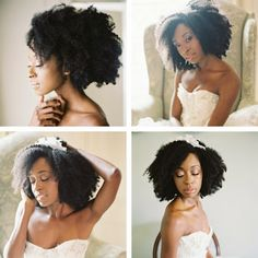 Kinky Curly Bridal Inspiration! If you're an ONYC beauty soon to walk down the aisle do not be afraid to try this look. #naturalhair #fros #bridalinspiration #naturalhairbrides #urbanhairpost #love4coils #curlybrides #kinkycurlyhair