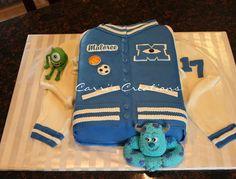 Monsters University themed Birthday cake for my neighbor's daughter turning 17.