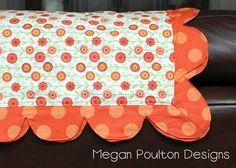 Self binding blanket with cute edge!