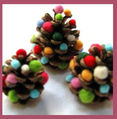 pinecone trees for kids to make