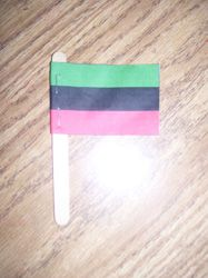 Kwanza Flags Cupcake Decorations - Pinned by @PediaStaff – Please visit http://ht.ly/63sNt for all (hundreds of) our pediatric therapy pins