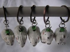 Set of mouse stitch markers by KatKeRosCorner on Etsy, $10.00