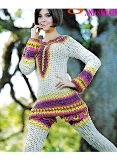 Vintage 70s Crochet OVERBLOUSE Pullover  / by KinsieWoolShop, $3.20