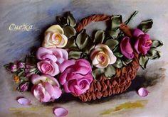 Silk Ribbon Flower Embroidery Design