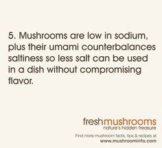 It's Day 5 of National Mushroom Month! Celebrate with this helpful cooking tip! #WFD2012 #IAmVegetable
