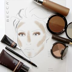 A beautiful bronzed look (without the typical orange cast) inspired by the new BECCA Shadow & Light Bronze/Contour Perfector from beccacosmetics on