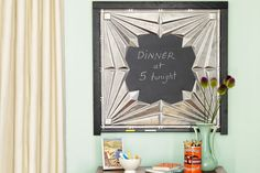 Create this Art Deco-style message center using a tin ceiling tile and chalkboard paint. | Photo: Tina Rupp | thisoldhouse.com