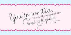 Current favorite script font! Carolyna - Webfont & Desktop font « MyFonts