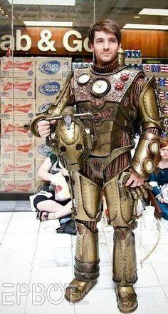 Steampunk suit Very cool!!  Nice Steampunk cyberman.  :)